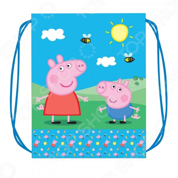 Мешок для обуви Peppa Pig «Свинка Пеппа» peppa pig набор толстых восковых карандашей свинка пеппа 8 цветов