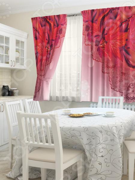 комплект шторы и тюль синель альянс плюс 1405 Фотокомплект для кухни: шторы и тюль ТамиТекс «Очарование»