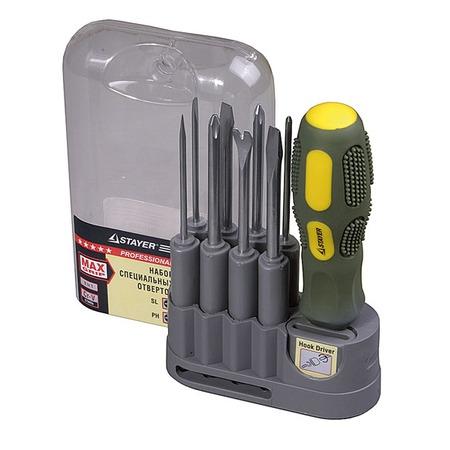 Купить Отвертка комбинированная с насадками Stayer Max-Grip 25911-H10 G