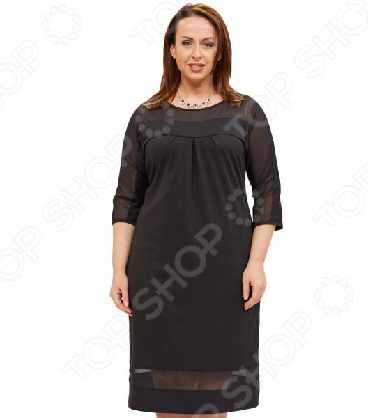 купить Платье Матекс «Снежный вальс». Цвет: черный по цене 3649 рублей