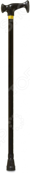 Товар продается в ассортименте. Цвет изделия черный, под бронзу при комплектации заказа зависит от наличия товарного ассортимента на складе. Надежная опора Трость Amrus Enterprises AMCТ23 предназначена для людей, у которых имеются различные трудности при передвижении. Представленная модель оснащена ортопедической пластмассовой рукояткой и имеет классический дизайн. Рукоять удобно ложится в ладонь, обеспечивая надежный хват. При желании или необходимости, трость можно легко отрегулировать по высоте.  Оцените преимущества трости:  Ортопедическая рукоять обеспечивает удобный захват.  Классический дизайн.  Телескопическая конструкция позволяет регулировать высоту в широком диапазоне.  Максимальная нагрузка составляет 100 кг.