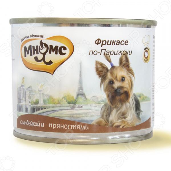 Корм консервированный для собак Мнямс «Фрикасе по-Парижски» с индейкой и пряностями