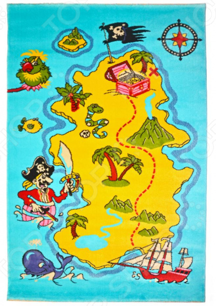 Ковер для детской комнаты URGAZ «Остров сокровищ» остров сокровищ