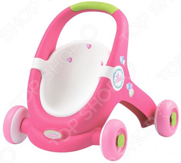 Коляска-ходунки для кукол Smoby MiniKiss коляска smoby minikiss ходунки коляска 210201