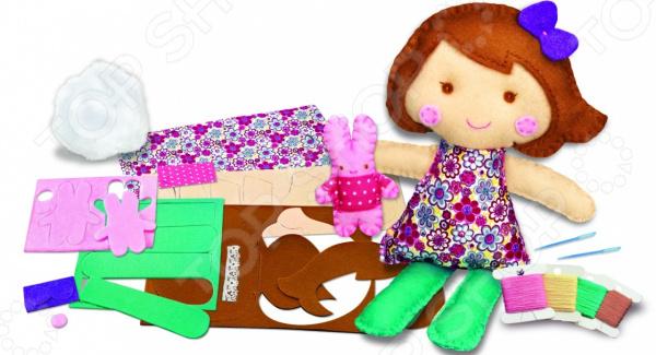 Набор для изготовления куклы 4M «Школа шитья. Кукла и крольчонок»