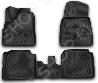 Комплект 3D ковриков в салон автомобиля Novline-Autofamily LADA 4х4 5D 2009 подкрылок с шумоизоляцией novline autofamily для lada priora 2007 задний правый