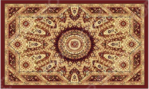 Ковер прямоугольный Kamalak tekstil «Солнце». Цвет: бордовый - артикул: 1602353
