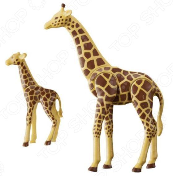 Набор фигурок Playmobil «Зоопарк: Жираф со своим детенышем жирафом» панно сокол зоопарк жираф желтый 20x66 комплект