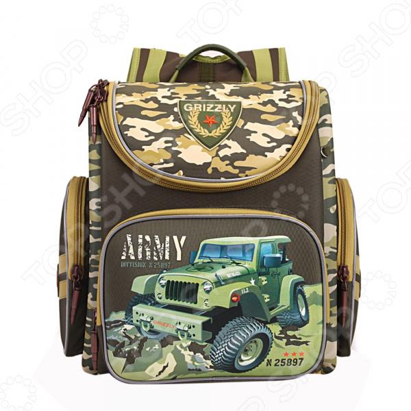 Рюкзак школьный Grizzly RA-870-3/1 школьный ранец grizzly school ra 676 ra 676 3 2 черный