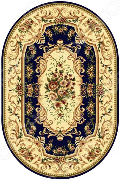 Ковер овальный Kamalak tekstil «Райский сад». Цвет: синий овальный купить ковры ковер super vision 5412 bone овал 3на 5 метров