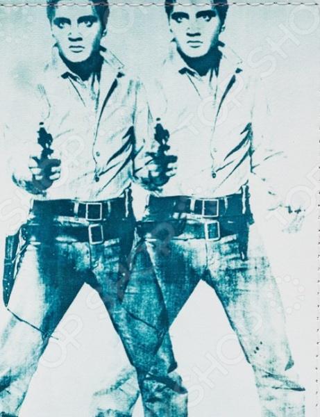Обложка для автодокументов кожаная Mitya Veselkov «Элвис» обложки mitya veselkov обложка для автодокументов элвис