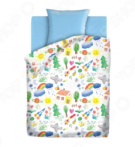 Детский комплект постельного белья Непоседа «Радуга» детский комплект постельного белья непоседа на рыбалке