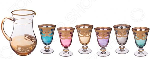 Набор: кувшин и 6 бокалов ART DECOR «Венециано» 326-030