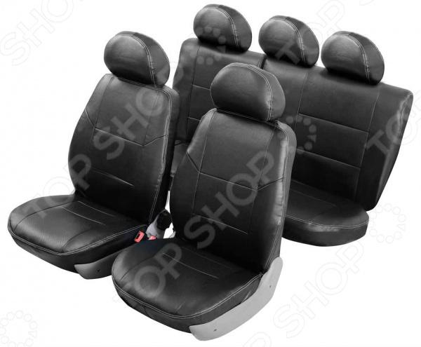 Набор чехлов для сидений Senator Atlant Hyundai Solaris 2010-2017 седан, слитный задний ряд чехлы модельные senator atlant экокожа lada vesta 2015 … седан раздельный задний ряд черный s1013581