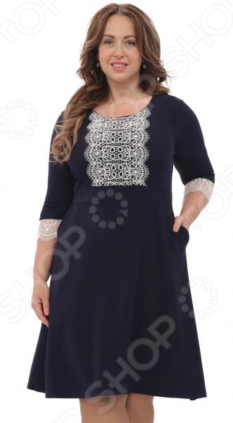 Платье Лауме-Лайн «Гермиона». Цвет: темно-синий платье vonflaibach цвет синий