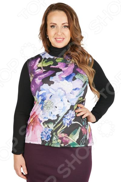 Блуза VAY «В краю Магнолий». Цвет: черный блуза vay vay mp002xw1hff7
