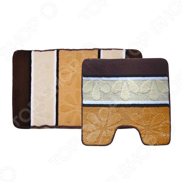 Комплект ковриков для ванной и туалета Dasch «Ромашка» комплект ковриков для ванной и туалета vortex berlin 21085