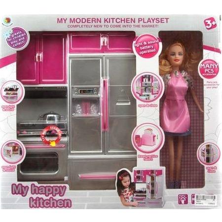 Купить Набор игровой с куклой Shantou Gepai «Моя новая кухня»