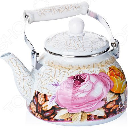 Чайник эмалированный Mayer&Boch «Кофе и цветы»