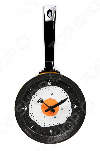 Часы настенные Mitya Veselkov «Сковорода с яичницей»