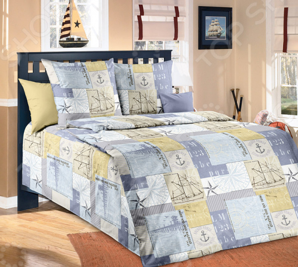 цена Комплект постельного белья Белиссимо «Каравелла» онлайн в 2017 году