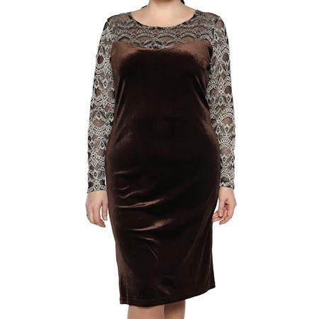 Купить Платье Лауме-Лайн «Бархатный блюз». Цвет: коричневый