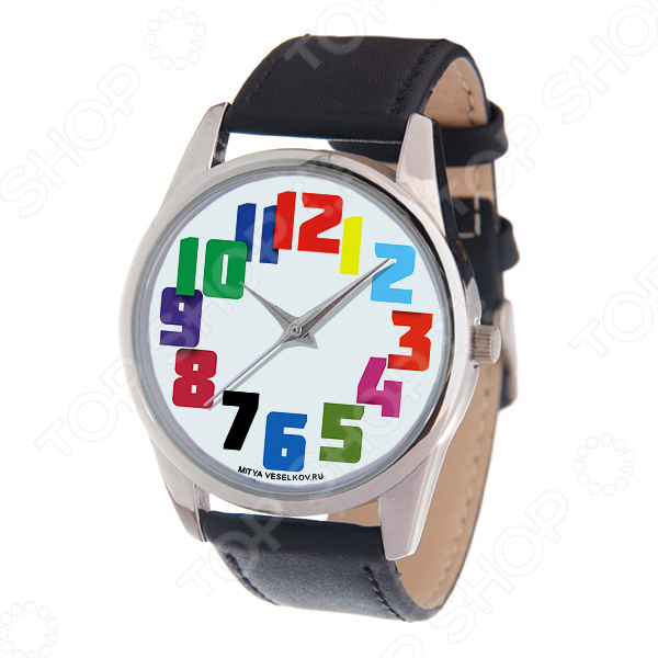 Часы наручные Mitya Veselkov «Цветные числа» MV-221
