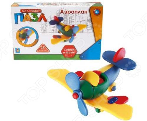Конструктор игрушечный 1 Toy «Аэроплан»