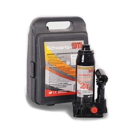Домкрат гидравлический бутылочный Azard SCHWARTZ-911 в кейсе