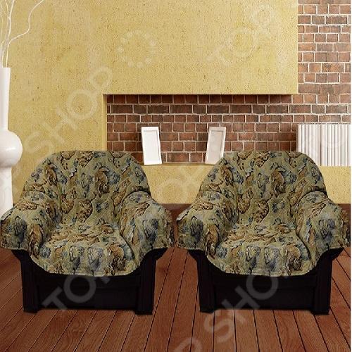 Zakazat.ru: Комплект накидок на кресло МарТекс JМ-065D «Кошкин дом»