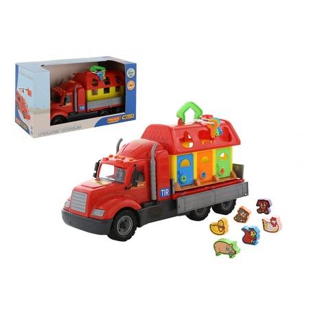 Купить Машинка игрушечная POLESIE «Майк» с домиком для зверей