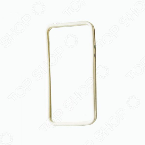 Бампер защитный для iPhone 5/5S/SE прозрачный с вставкой