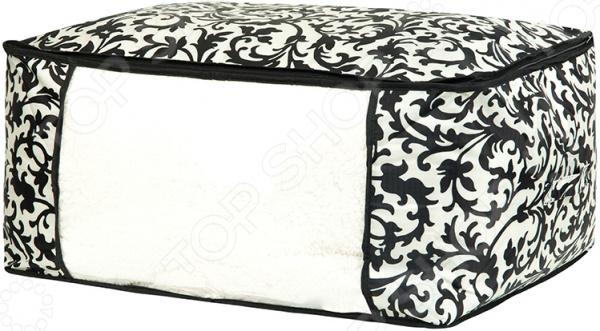Кофр для хранения одеял и пледов EL Casa «Узор на серебре»