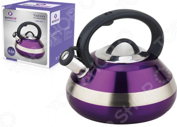 Чайник со свистком Eurostal ESK-4001 чайник eurostek со свистком 3 л esk 3065
