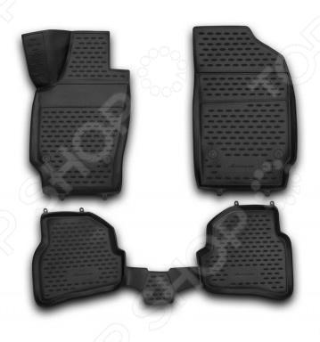 Комплект 3D ковриков в салон автомобиля Novline-Autofamily Volkswagen Polo V 2009 комплект 3d ковриков в салон автомобиля novline autofamily volkswagen touareg 2010 2015 2015