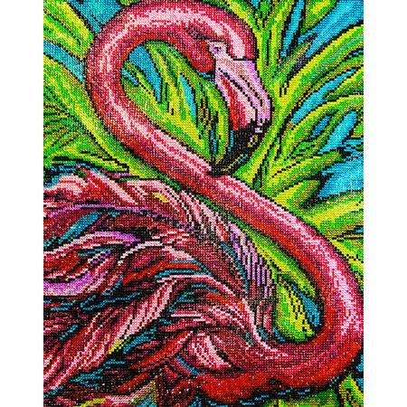 Купить Набор для творчества Color Kit «Алмазная мозаика». Рисунок: «Розовый фламинго»