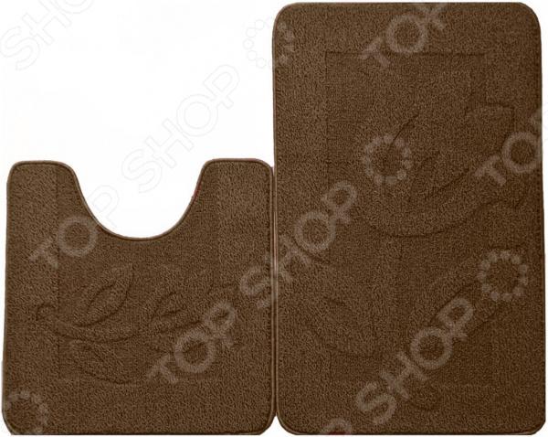 Набор ковриков для ванной комнаты Kamalak textil УКВ-1027