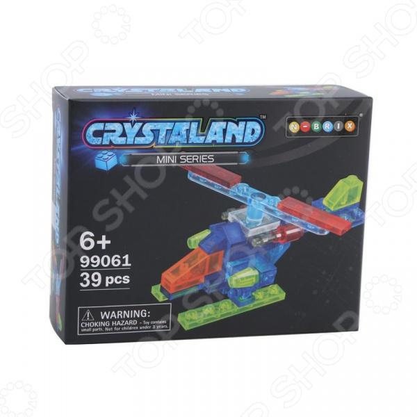 Конструктор игрушечный N-BRIX Crystaland «Мини Вертолет» crystaland конструктор истребитель 6 в 1