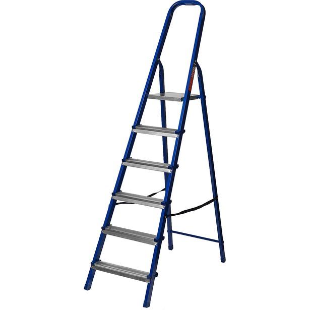 фото Лестница-стремянка Mirax 38800. Высота верхней ступени: 121 см. Количество ступеней: 6