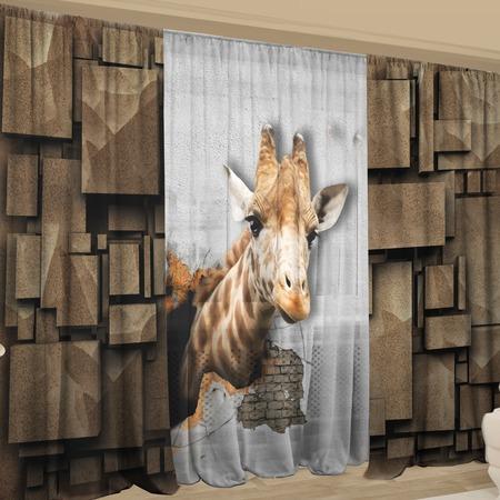 Купить Фотокомплект: тюль и шторы ТамиТекс «Среда обитания»