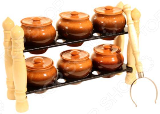 Фото - Набор горшочков Вятская керамика ВK-3Т набор керамических горшков 3 предмета вятская керамика нбр вк 3т