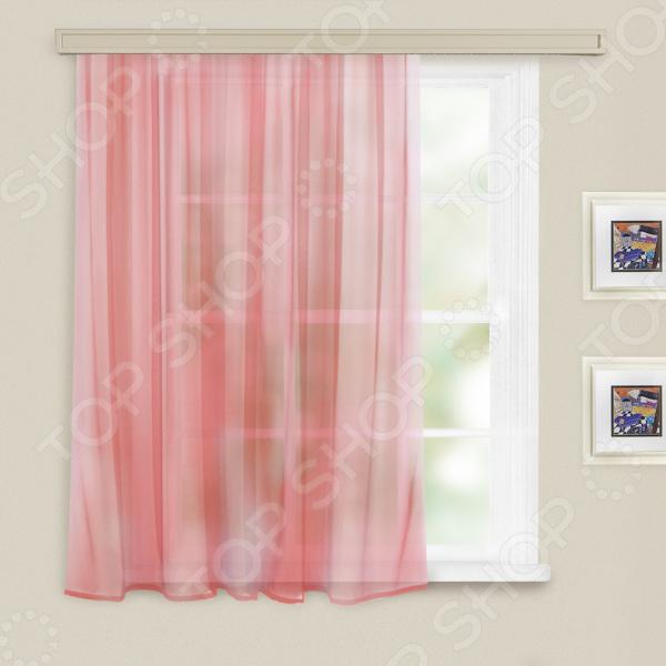 Тюль WITERRA «Вуаль». Цвет: бледно-розовый