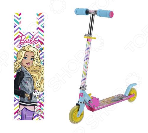 Самокат двухколесный Navigator Barbie со светящимися колесами цена