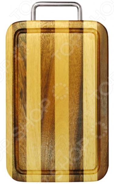 Доска разделочная Oriental Way в полоску с ручкой разделочные доски oriental way доска разделочная прямоугольная с желобком