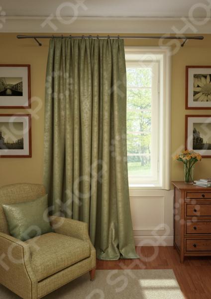 Штора Kauffort Plain Lux. Цвет: серебристый, коричневый шторы интерьерные kauffort штора provence k на тесьме 136х175