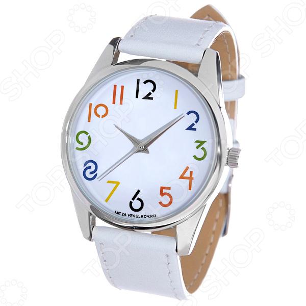Часы наручные Mitya Veselkov «Разноцветные цифры»