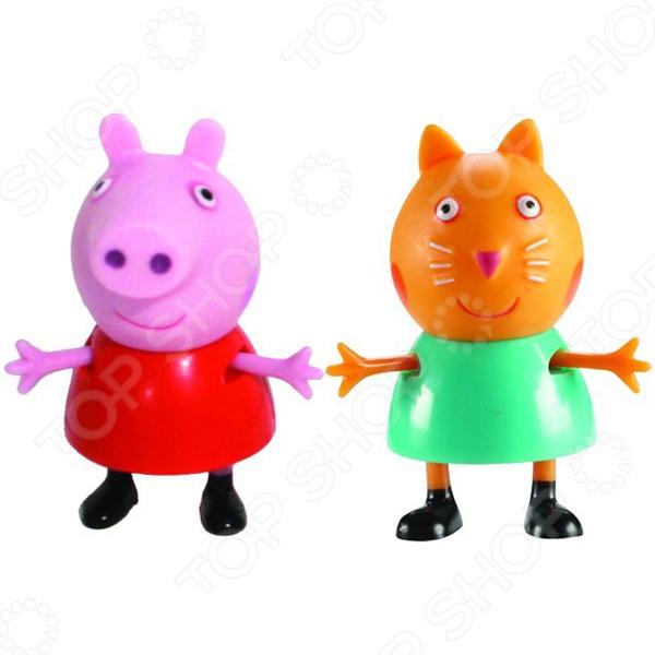 Игровой набор фигурок Peppa Pig «Пеппа и Кенди» sx 168 bicycle 4 sound 2 flahsing electric horn w led light red 3 x aaa
