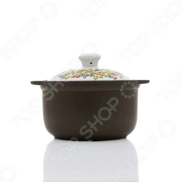 Кастрюля керамическая с крышкой Едим Дома Narino «Венето» кастрюля керамическая едим дома едим дома