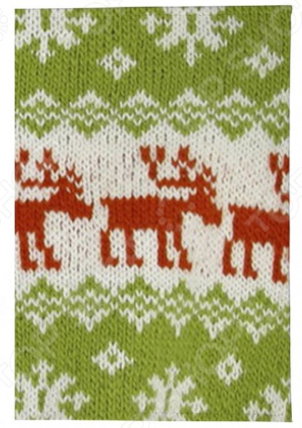 Обложка для паспорта кожаная Mitya Veselkov «Свитер с оленями»