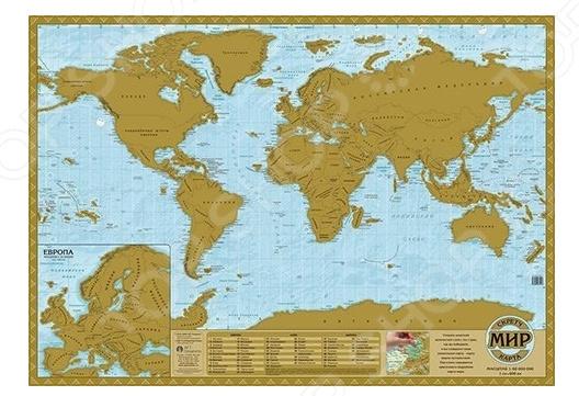 Скретч-карта АГТ Геоцентр «Мир»